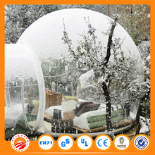 White color inflatable bubble camping tent for outdoor use