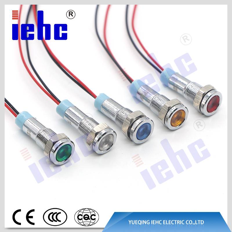 YHJ series 6mm ip67 12v led equipment electrical wiring metal indicator light