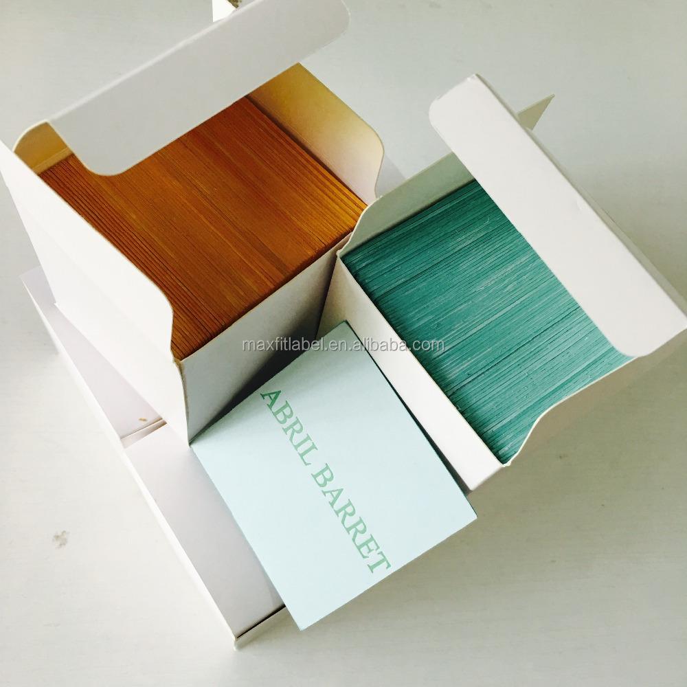 Color Edge Custom Cotton Paper Letterpress Business Cards
