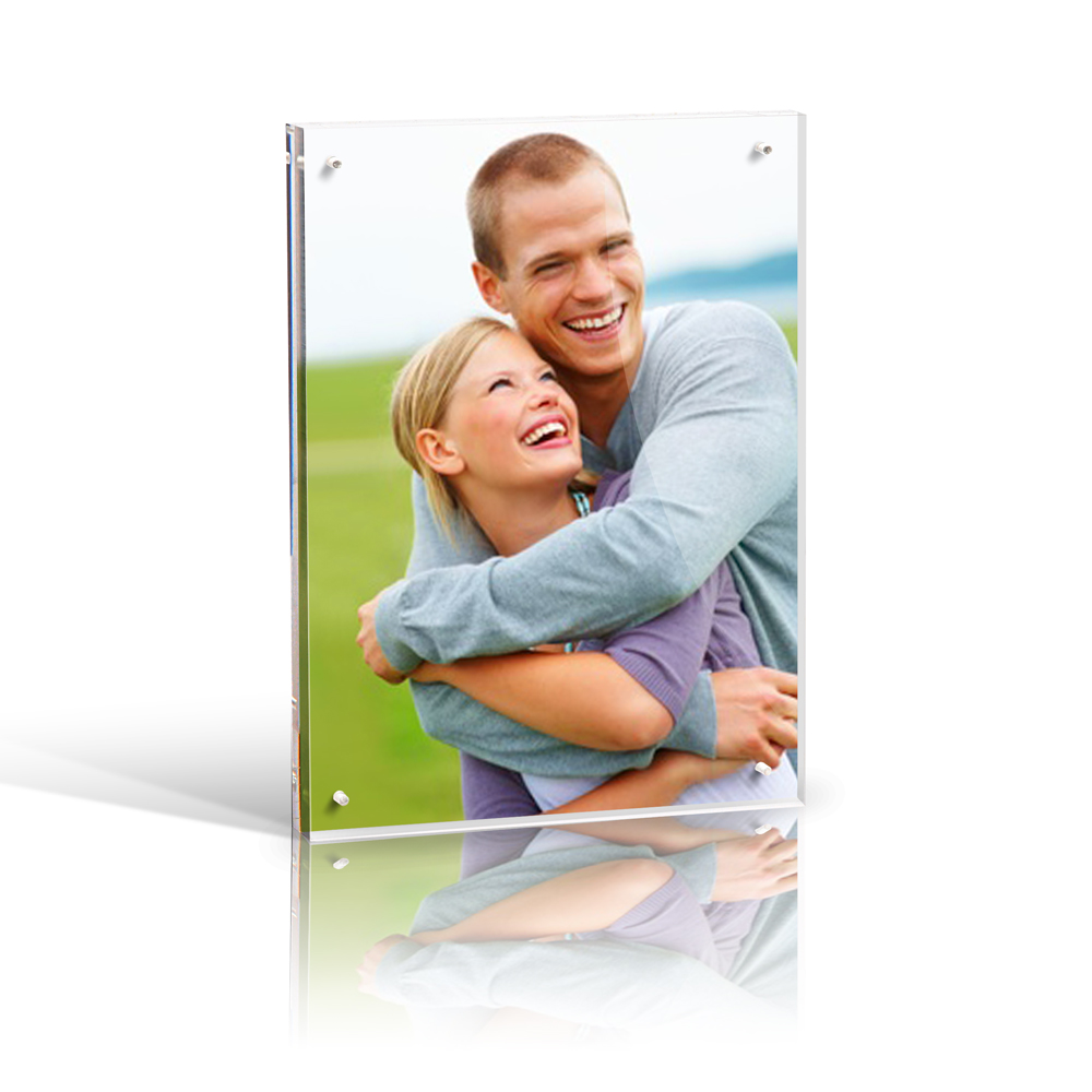 6x8'' Custom acrylic magnetic photo frame picture frame