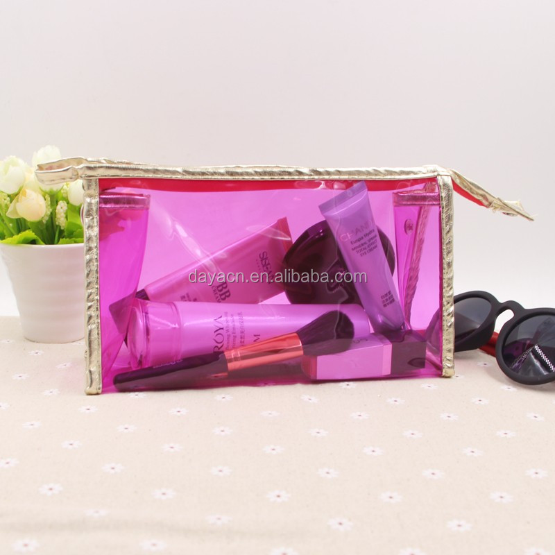 Hot sales Simple clear pvc cosmetic bag Transparent makeup bags