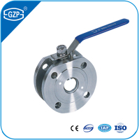 Pharmaceutical used ANSI standard SS316L wafer type flanged Ultra thin Italian ball valve of size DN15 to DN150