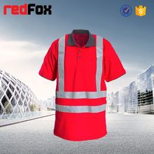 reflective safety rayon polyester cotton t shirt