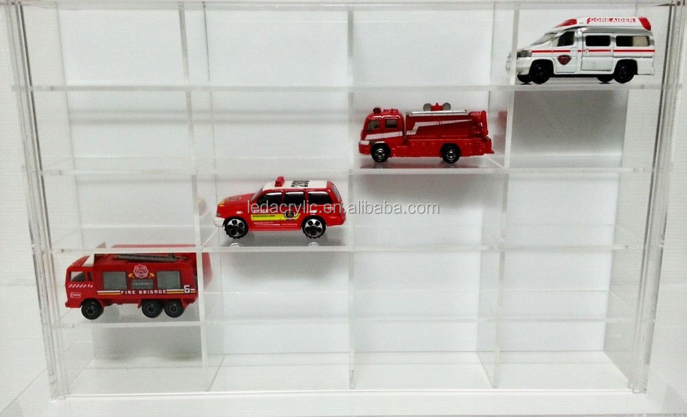 TOMICA HOT WHEELS TAMIYA 1/64 SCALE DIECAST ACRYLIC DISPLAY CASE