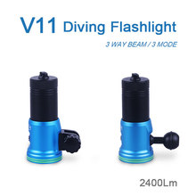 Latest 2400Lumens LED Photo / Video Light XP-G2 LEDs Underwater Lamp Torche Diving Flashlight Lanterna
