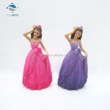 Lovely design CO-ARTS two girls wedding resin craft fairy figurines wholesale