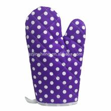Round dot purple oven gloves image product