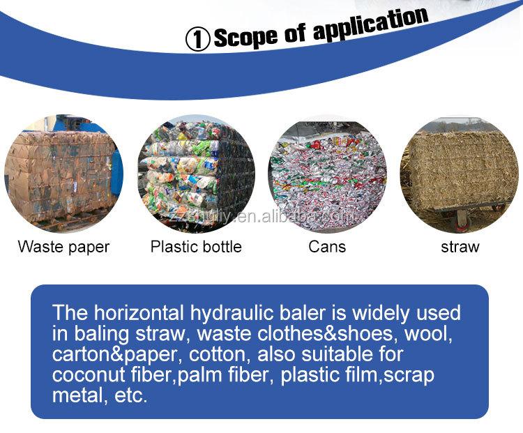 textile cloth recycling baler machine Aluminum can compactor machine cotton bale press machine