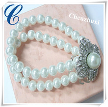 8mm white pearl bracelet faux bijoux accessories