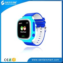 Latest Design ABS+Imitation Leather Kids Smart Watch GPS Tracker SOS Call Wrist Watch
