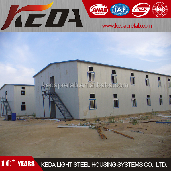 Two Storeys Steel Prefabricated Labour Camp Accommodation House in Qatar