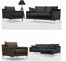 corner sofa in grey bisini furniture for heavy people