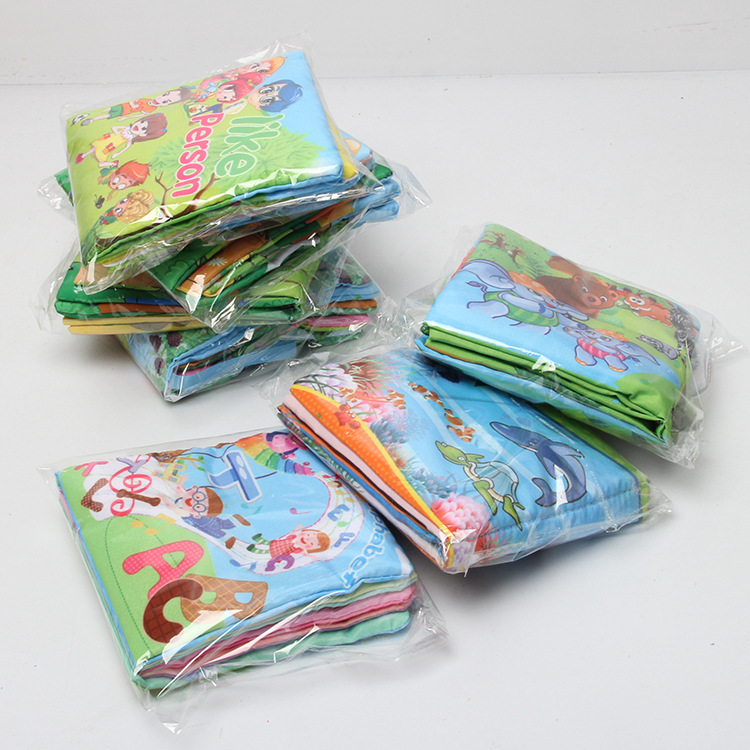 Baby kids Educational Cloth Books Soft Series Colorful Fabric Kid Learning Book