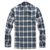 Winter warm man fleece lined plaid flannel fur bonded thick shirt