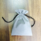 velvet gift bag/pouch with embossed logo