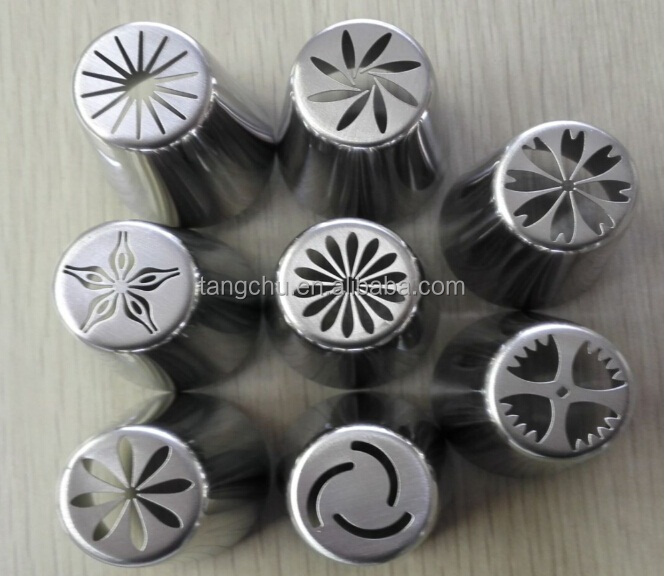 8pcs/set Flowers Russian Modeling Decorating Tools Pastry Nozzles Tip Cake Best Selling New Products Innovative Merry Christmas
