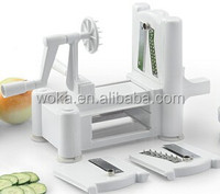 Tri-Blade Plastic Spiralizer Vegetable Fruit Spiral Turning Slicer