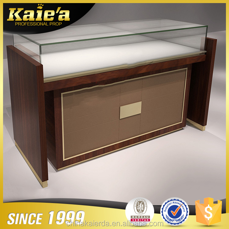 Factory make jewelry display showcae kiosk for sale