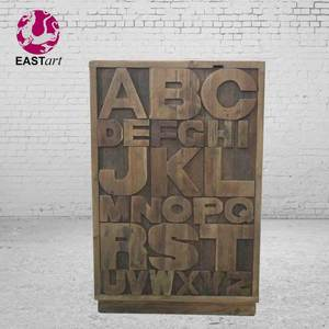 wooden letters drawer cabinet European style furniture Antique furniture