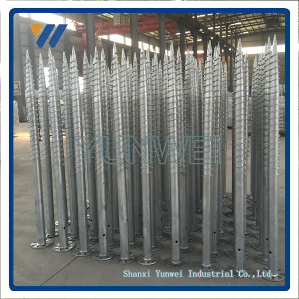 Professioanl Manufacturer Spiral Pile For Solar PV Mounting Structure