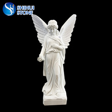 Large Life Size Marble Angel Statue Wholesale For Cemetery Or Garden