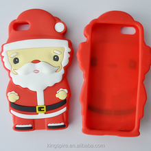 Christmas Snowman Santa Claus Silicone Phone Cases Cell Phone Cover For iPhone 6s 6 5s 5