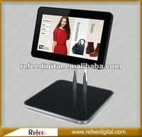 Excellent supplier for fashion Ipad style with table bracket 7 to 17 inch advertising player touch screen monitor 15 inch