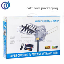 Gift Box Packing 360 turning degree antenna tv antenna outdoor remote controlled rotating antenna