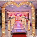 2016 hot new gold&silver led light crystal wedding arch for wedding decoration & party decoration (SGYW-002)