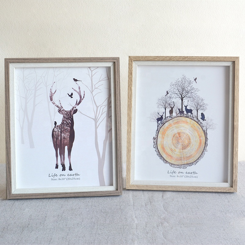 Fashion Beautiful Picture Frame Designs / Wedding Wood Photo Frame / Love Frames Photo snow globe