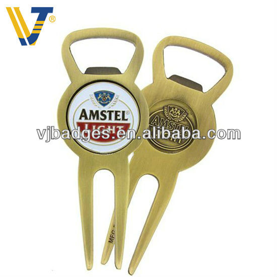 2017 noverty metal golf pitchfork with ball marker