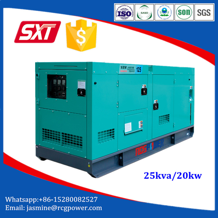 High Efficient home use 25kva diesel generator with optional engine