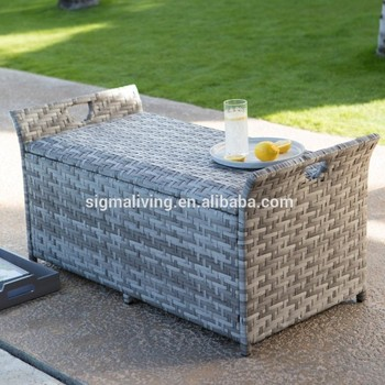 All-weather patio furniture decorative rattan storage boxes
