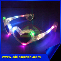 Heart Shaped Glasses Party Mask Glasses Led Flashing Party Sung