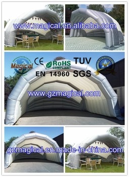 Mobile inflatable car garage cover air tent