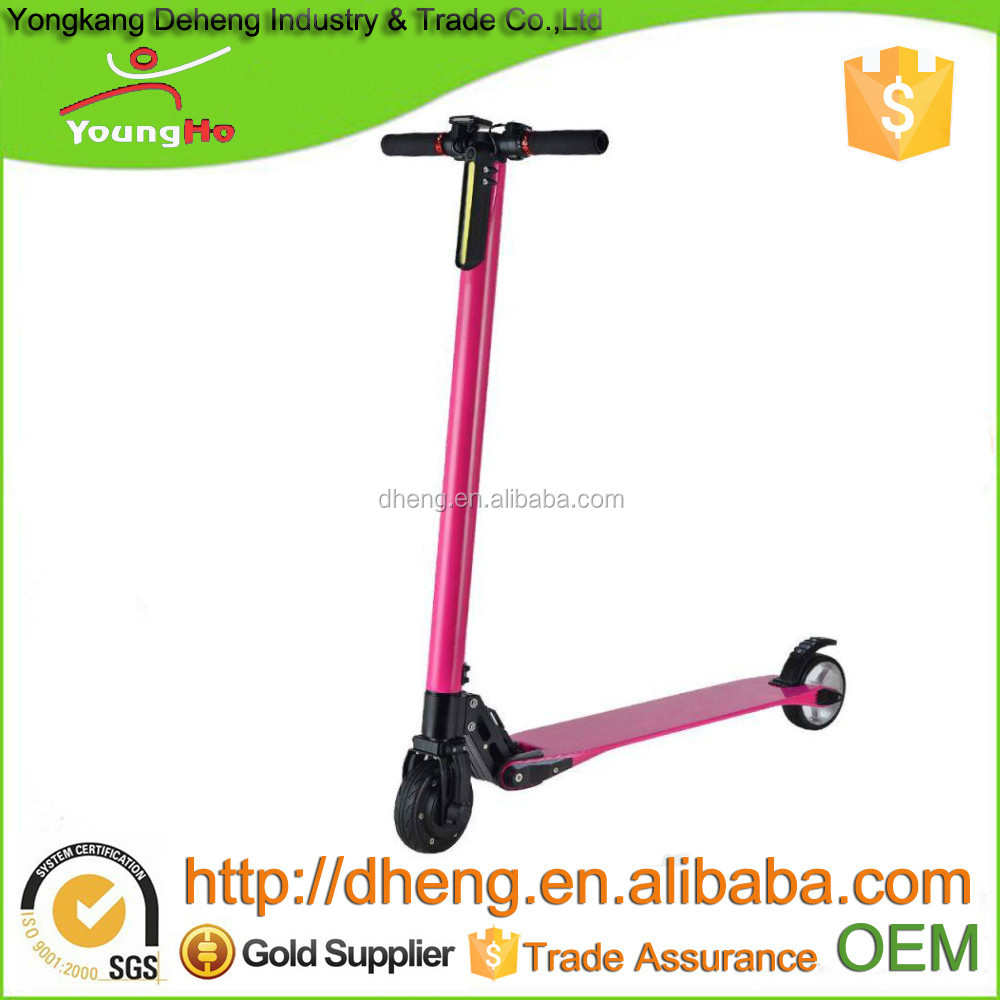 Easy Folding, 5inch wheel, carbon fiber Electric scooter with 300W power