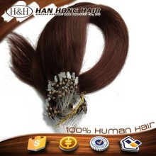 unprocessed virgin remy human hair ombre micro loop ring hair extension fish wire hair extension