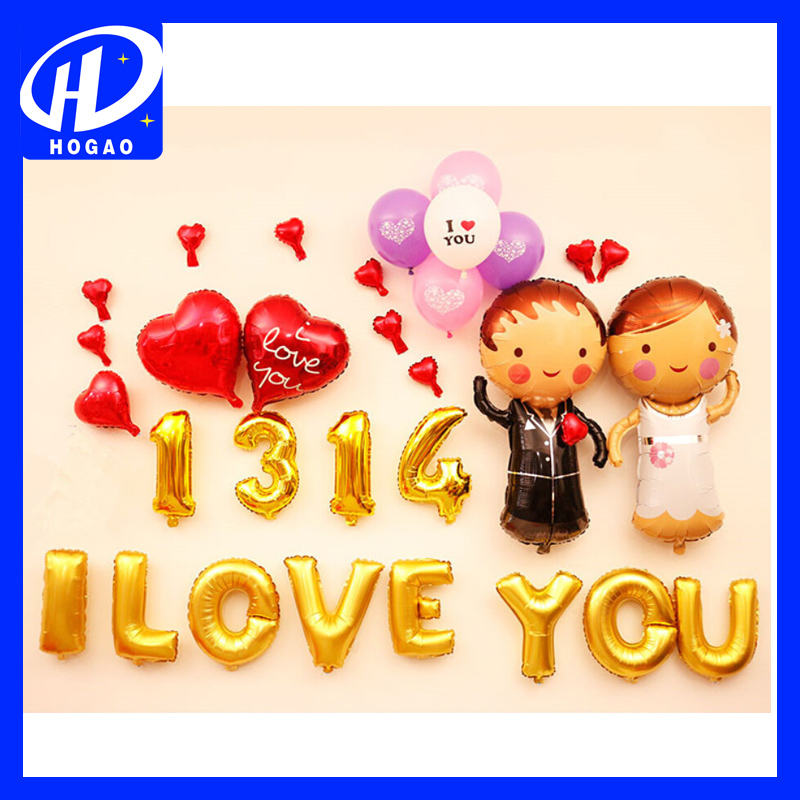 In stock hot sale wedding and party decoration dolls shape latex helium balloon