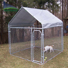 Large outdoor stainless steel dog kennel cage