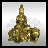 high quality gold plated buddha figure