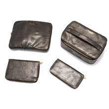 pu leather female daily cosmetic bag set 4 for cosmetic