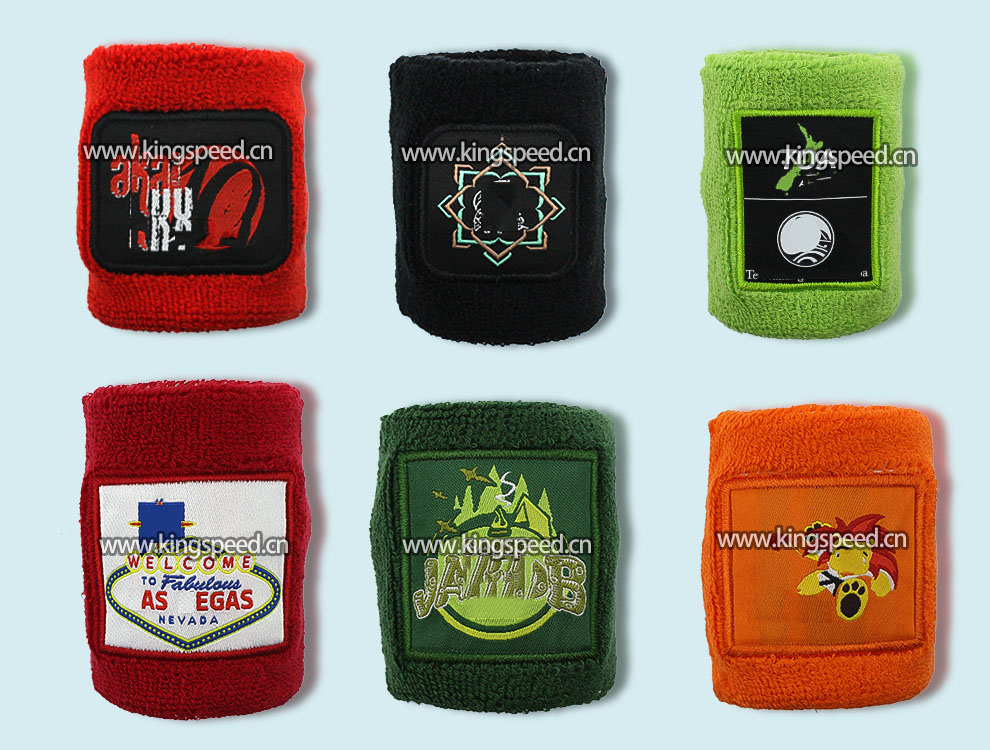 Custom Design Terry Cotton Embroidery Sports Sweatband