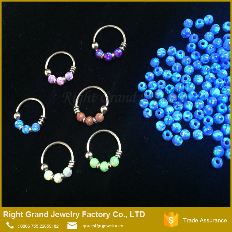 2017 Unique Designs Opal Septum Nose Ring Body Piercing Jewelry