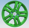 Green Four Holes Car Alloy Wheel Rims With Model F110269