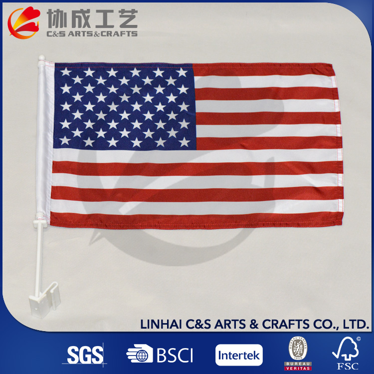 Sublimated Printing Stain Eco-Friendly Car Flag