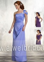S1220 Charming one shoulder ruffle chiffon sex mother of the bride dress
