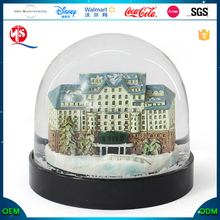 Quanzhou Craft Clear Acrylic Resin Craft Souvenirs Worldwide Snow Globe