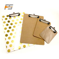 A4/A3 Waterproof Hardware Custom MDF Wooden Clipboard