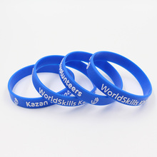 party glow in dark band personalized festival embossed rubber band custom bracelets