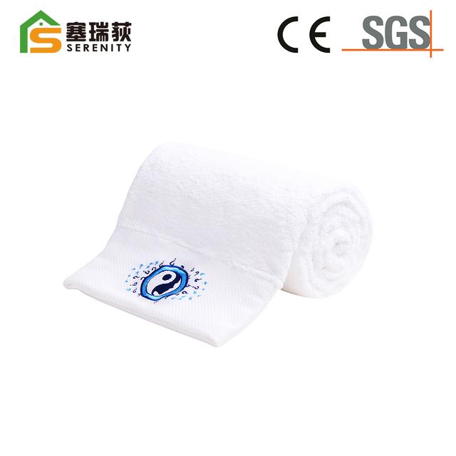 Hot selling custom cotton hotel & and spa use jacquard bath towels
